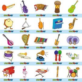 Abtibilduri pentru gradinita – instrumente