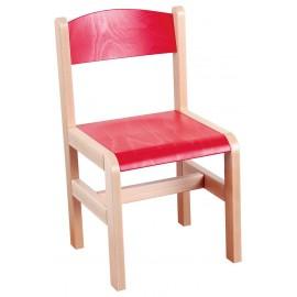 Scaun de lemn - Rosu