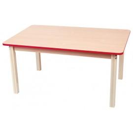 Blat masa dreptunghiular cu cant colorat - Rosu