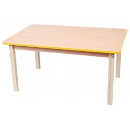Blat masa dreptunghiular cu cant colorat - galben