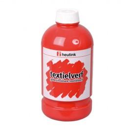 Vopsea pentru tesaturi 500 ml Rosu - Heutink