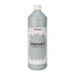 Gouache sticla 1L Argintiu cu sclipici - Heutink