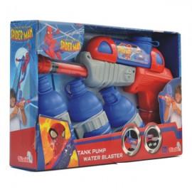 Pusca de apa cu 3 rezervoare Spiderman