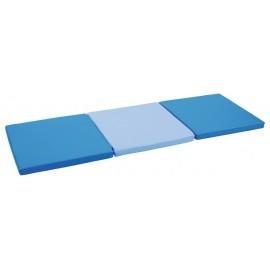 Saltea pliabila 3 elemente albastru