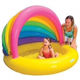 Piscina gonflabila pentru copii cu acoperis curcubeu - Intex