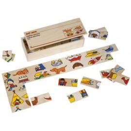 Joc educativ pentru gradinita Jumatati de Domino - Educo