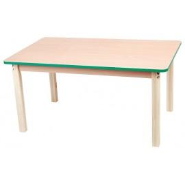 Blat masa dreptunghiular cu cant colorat - verde
