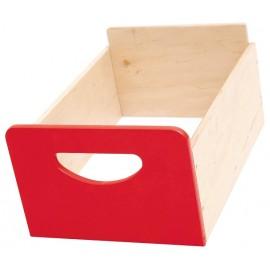 Cutie depozitare din lemn - Rosu