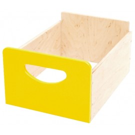 Cutie depozitare din lemn – Galben