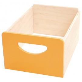 Cutie depozitare din lemn – Portocaliu