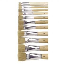 Set 12 pensule cu maner lung - numarul 10 - Heutink