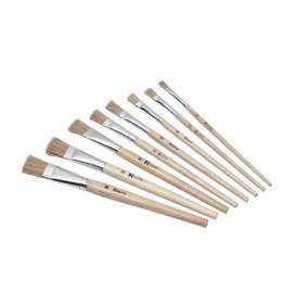 Set 12 pensule cu maner scurt - numarul 4 - Heutink