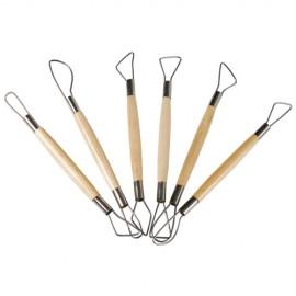 Set 6 unelte cu sarma pentru modelaj - Heutink