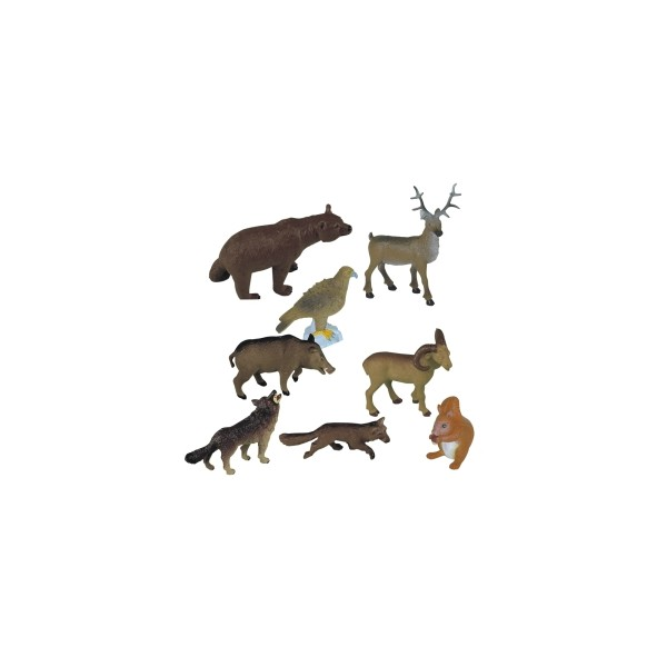 Animale din padure set de 8 figurine - Miniland