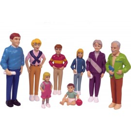 Familie de europeni set de 8 figurine - Miniland