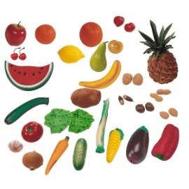 Fructe, Legume Si Fructe Uscate Set De 36 Figurine - Miniland imagine