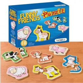 Puzzle lemn Animale Prietenoase