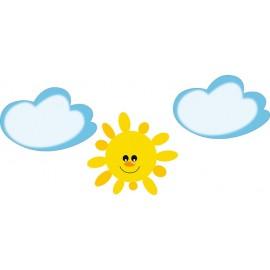 Decor pentru perete – Set nori si soare