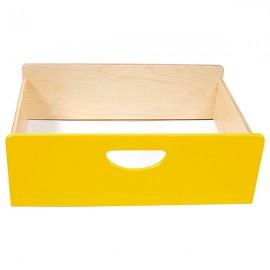 Cutie depozitare din lemn – Galben– BIS