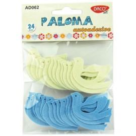 Set Paloma 24 porumbei autoadezivi