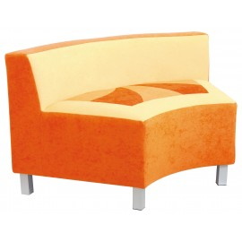 Canapea concava portocalie Premium