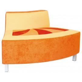 Canapea convexa portocalie Premium