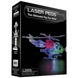 Kit Constructie cu lumini Laser Pegs 6 in 1 - Helicopter