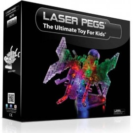 Kit Constructie Cu Lumini Laser Pegs 12 In 1 - Butterfly
