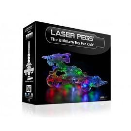 Kit Constructie cu lumini Laser Pegs 12 in 1 - Indy Car