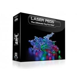 Kit Constructie Cu Lumini Laser Pegs 24 In 1 - Spaceship