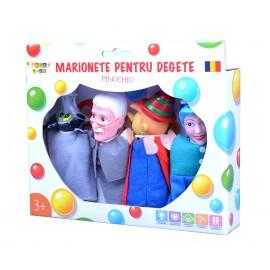 Set marionete pentru degete - Pinochio