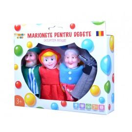 Set marionete pentru degete - Scufita rosie