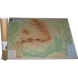 Harta fizica si geografica ROMANIA - 67 x 97 cm