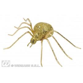 Paianjen Glitter Auriu 7 cm