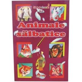 Animale Salbatice - Citeste Si Coloreaza
