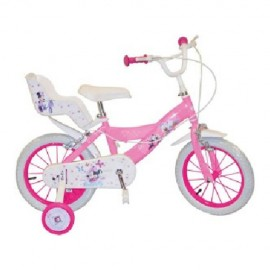 "Bicicleta 14"" Minnie Mouse Club House, fete"