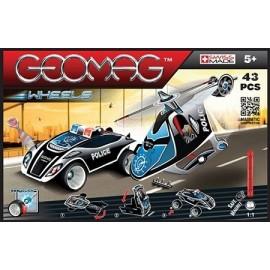 Geomag Wheels Urmărire poliţistă set 43 piese