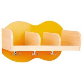 Cuier cu 3 compartimente - portocaliu