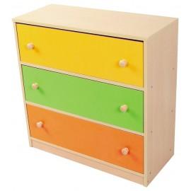 Comoda sertare colorate