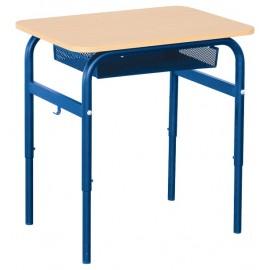 Banca scolara Daniel cu inaltime reglabila 1 persoana nr 2 – 4 – Albastru