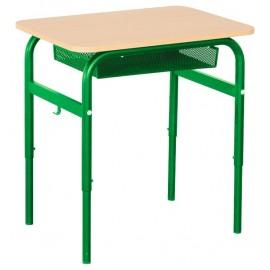 Banca scolara Daniel cu inaltime reglabila 1 persoana nr 2 – 4 – Verde
