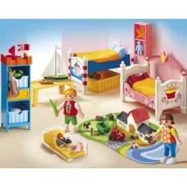 Dormitorul copiilor casei de papusi