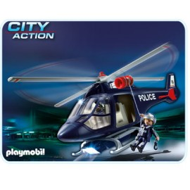 Elicopter de politie cu lumini