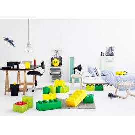 Cutie depozitare LEGO 1x2 verde deschis