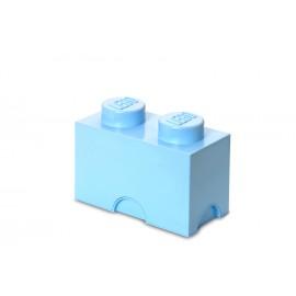 Cutie depozitare LEGO 1x2 albastru deschis