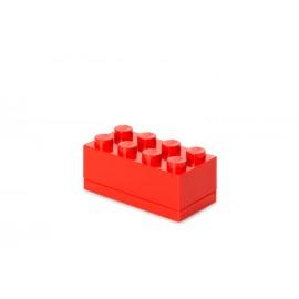 Mini cutie depozitare LEGO 2x4 rosu