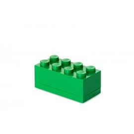 Mini cutie depozitare LEGO 2x4 verde inchis
