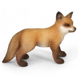 Figurina animal pui de vulpe roscata