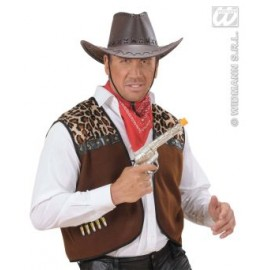 Pistol cowboy argintiu