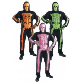 Costum schelet neon - marimea 128 cm